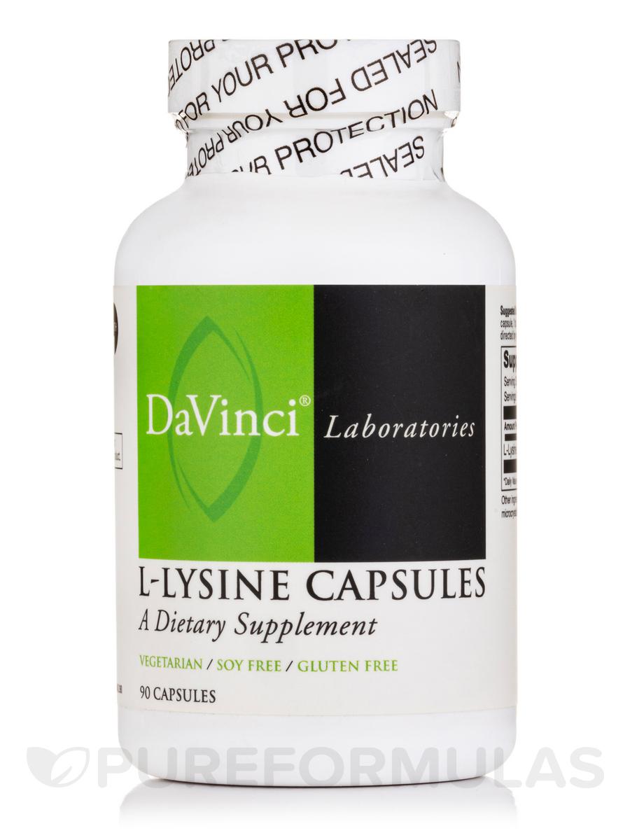 L-Lysine 500 mg - 90 Capsules