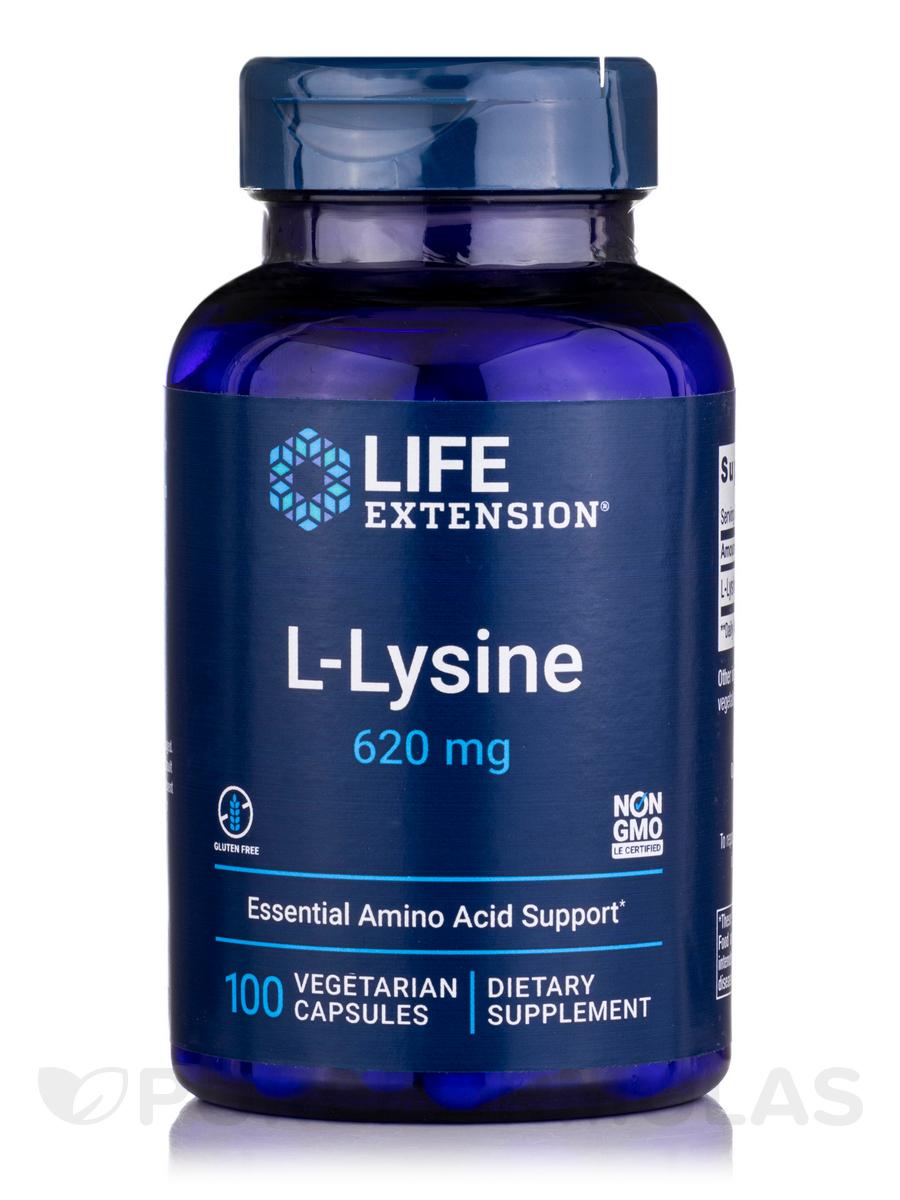 L-Lysine 620 mg - 100 Vegetarian Capsules