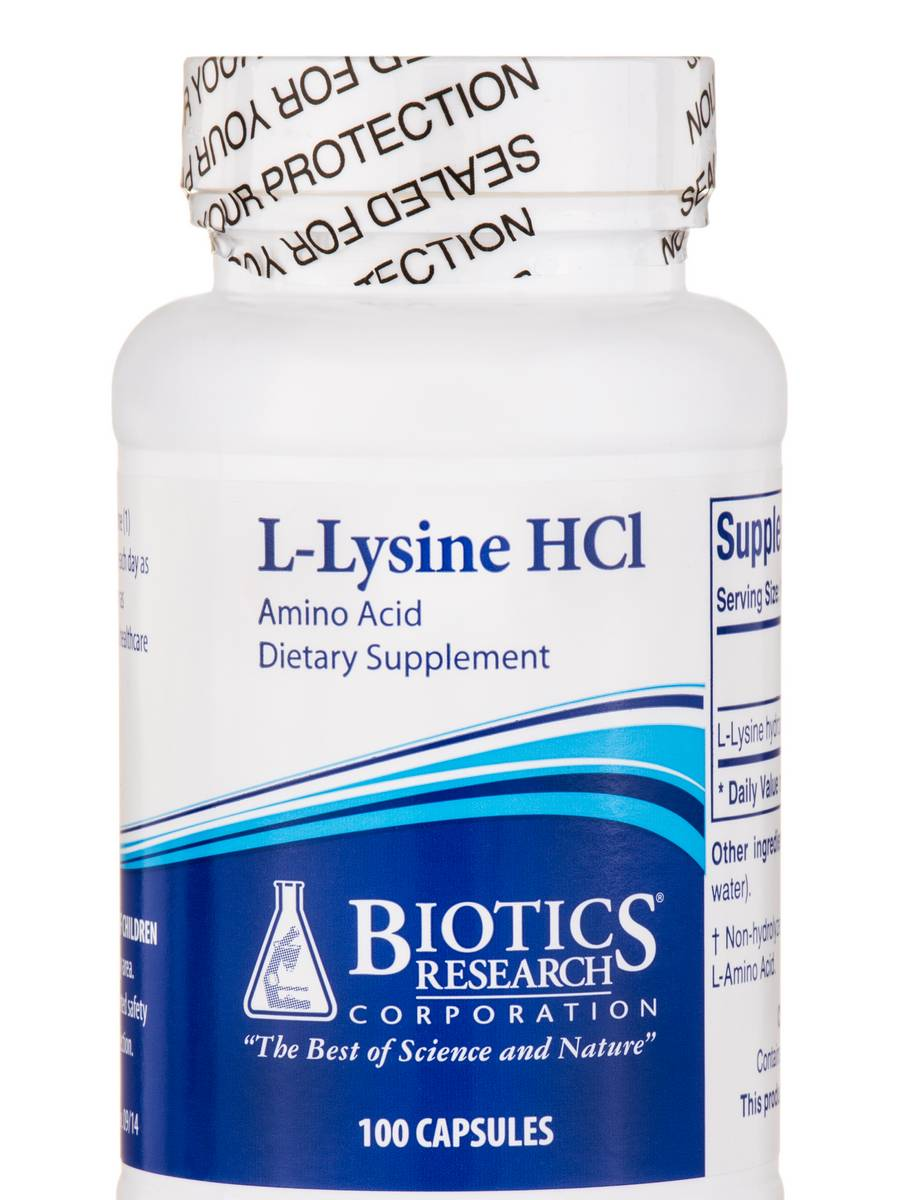 L-Lysine HCl - 100 Capsules