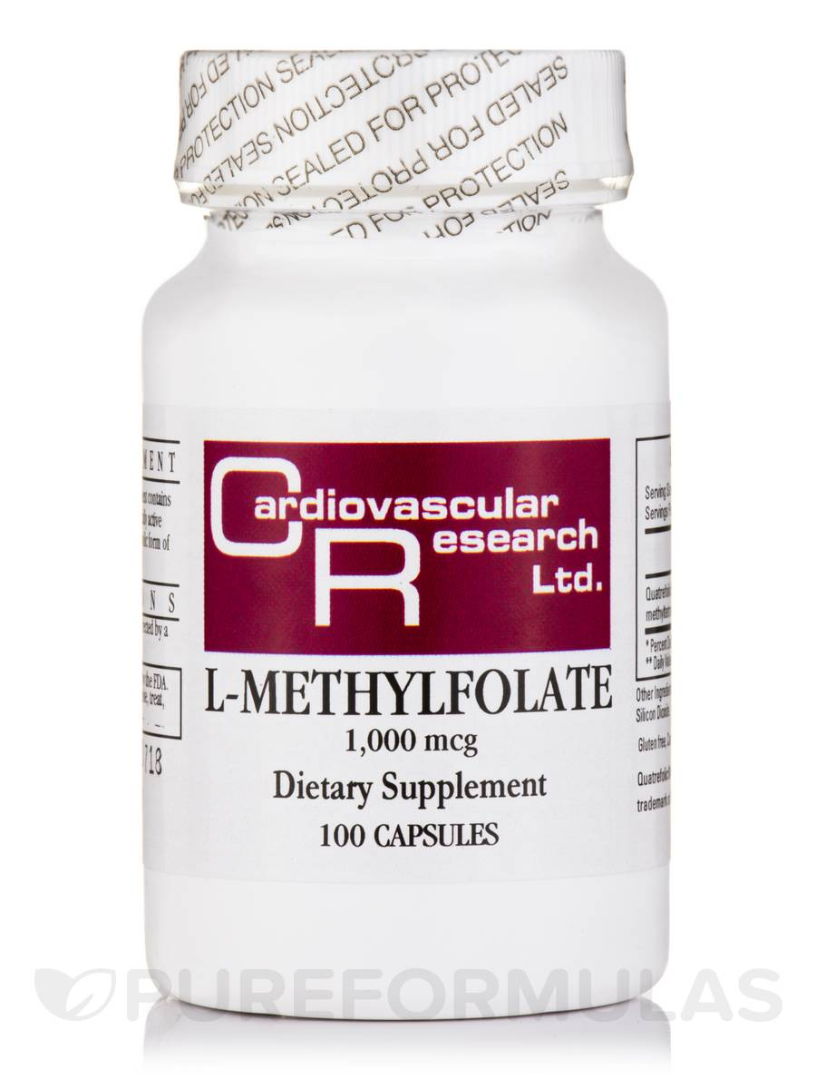 L-Methylfolate 1000 mcg - 100 Capsules
