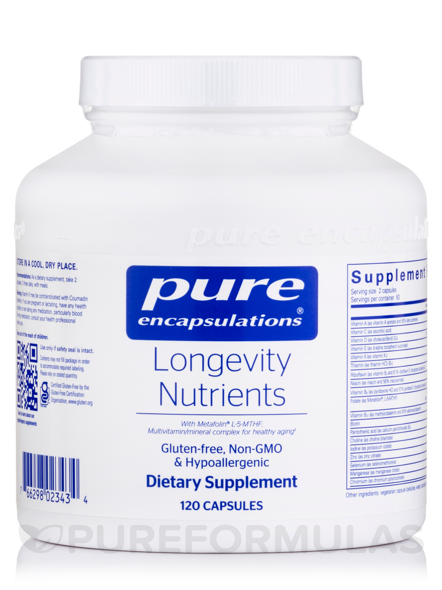 Longevity Nutrients - 120 Capsules