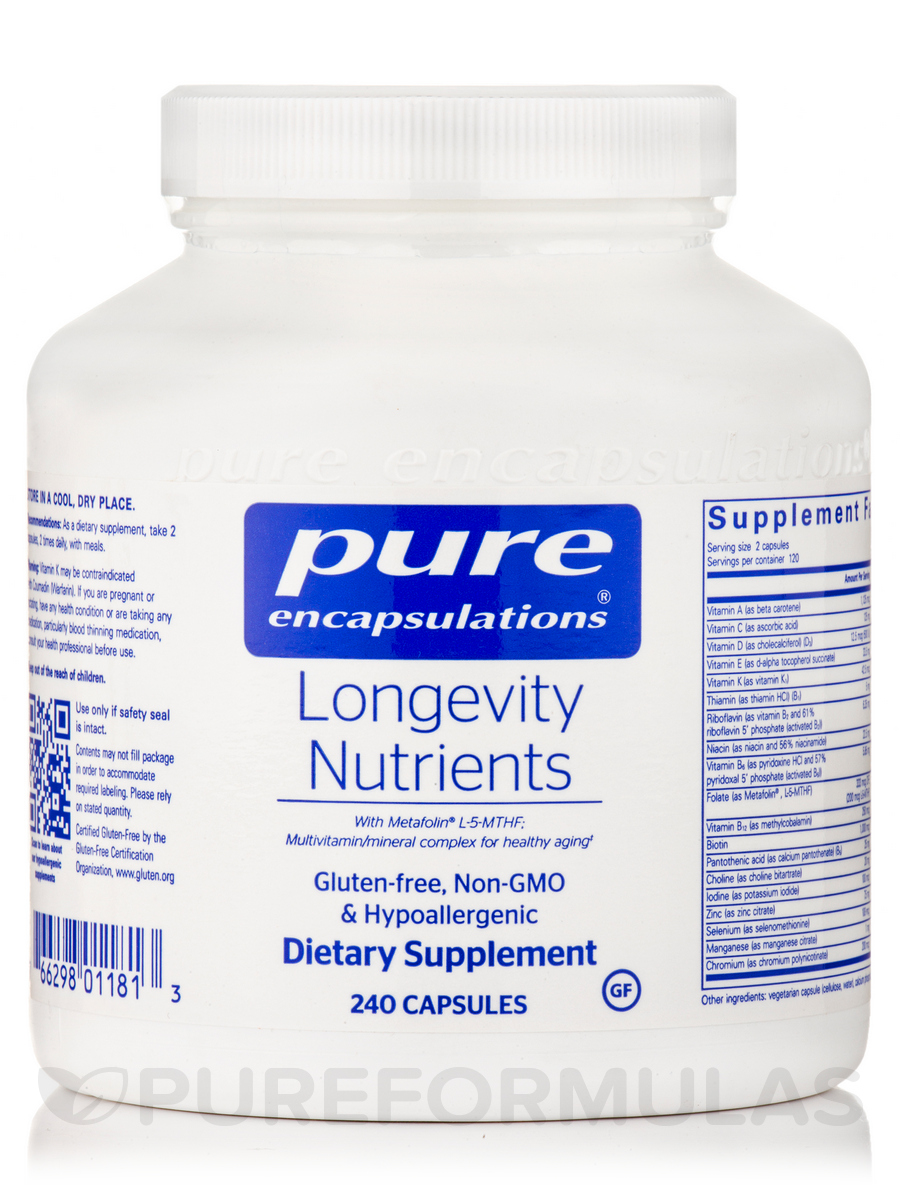 Longevity Nutrients - 240 Capsules