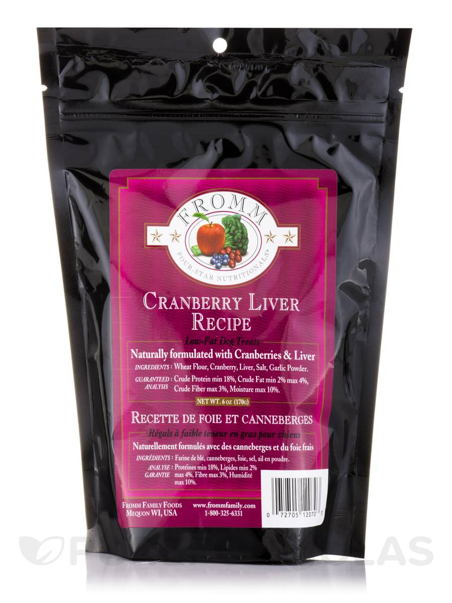 Four-Star Nutritionals® Low-Fat Cranberry Liver Dog Treats - 6 oz (170 Grams)