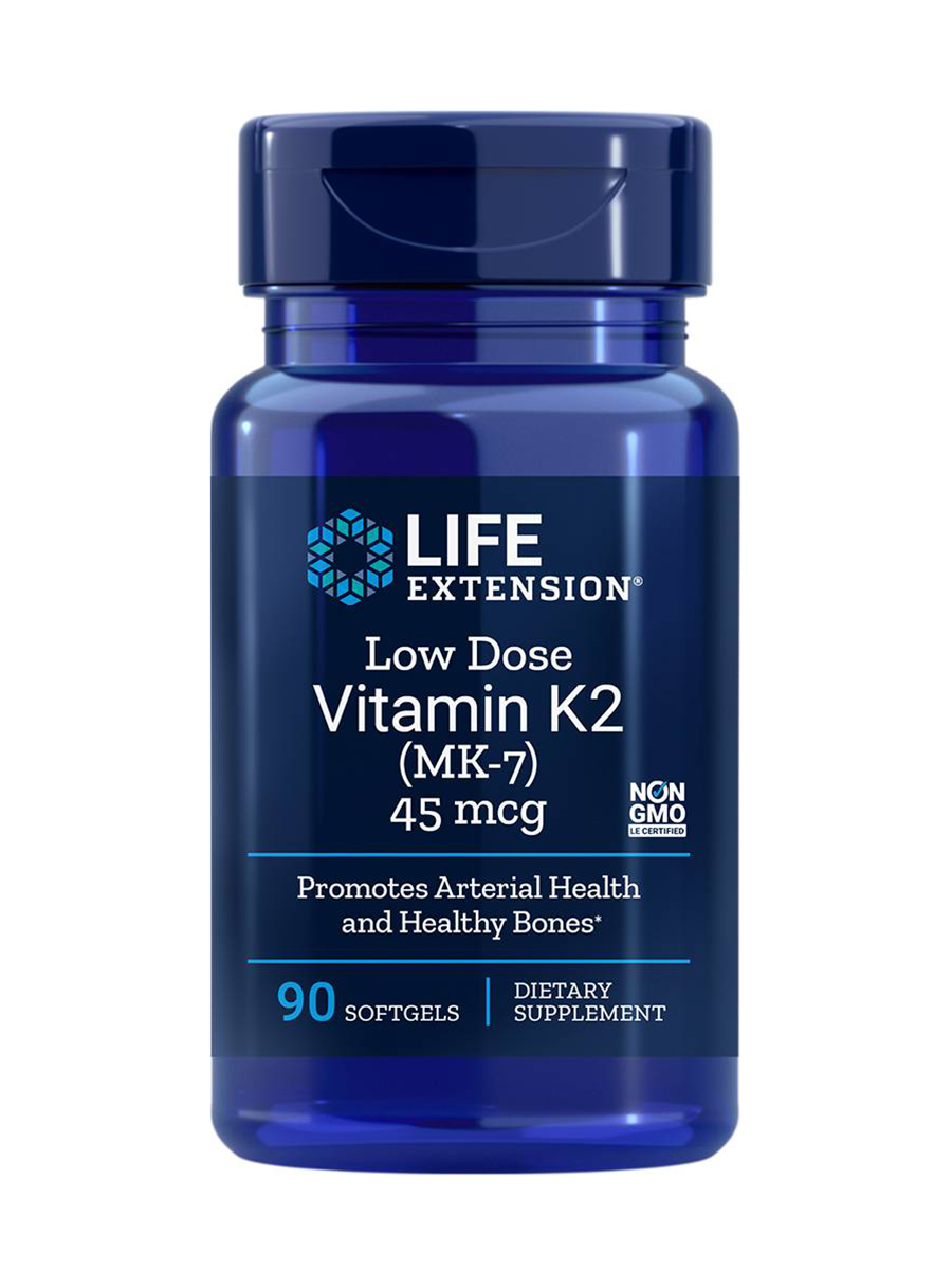 Low-Dose Vitamin K2 (MK-7) 45 mcg - 90 Softgels