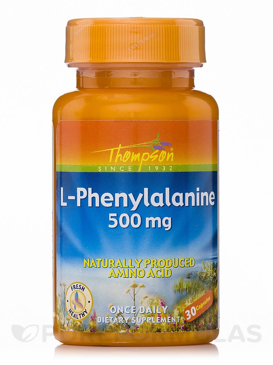 L-Phenylalanine 500 mg - 30 Capsules