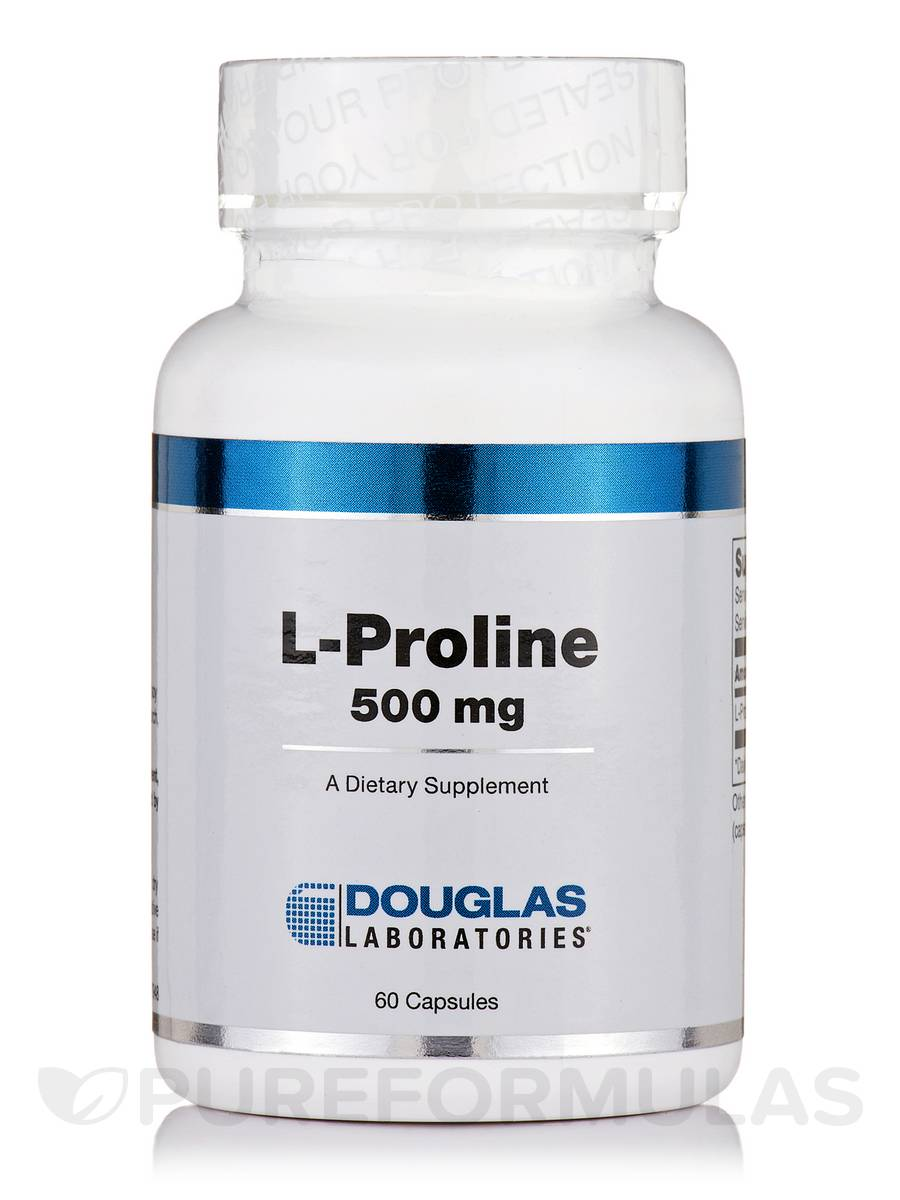 L-Proline 500 mg - 60 Capsules