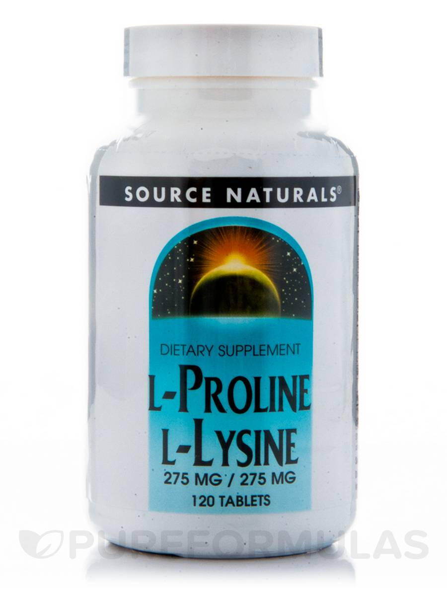 L-Proline L-Lysine 275 mg - 120 Tablets