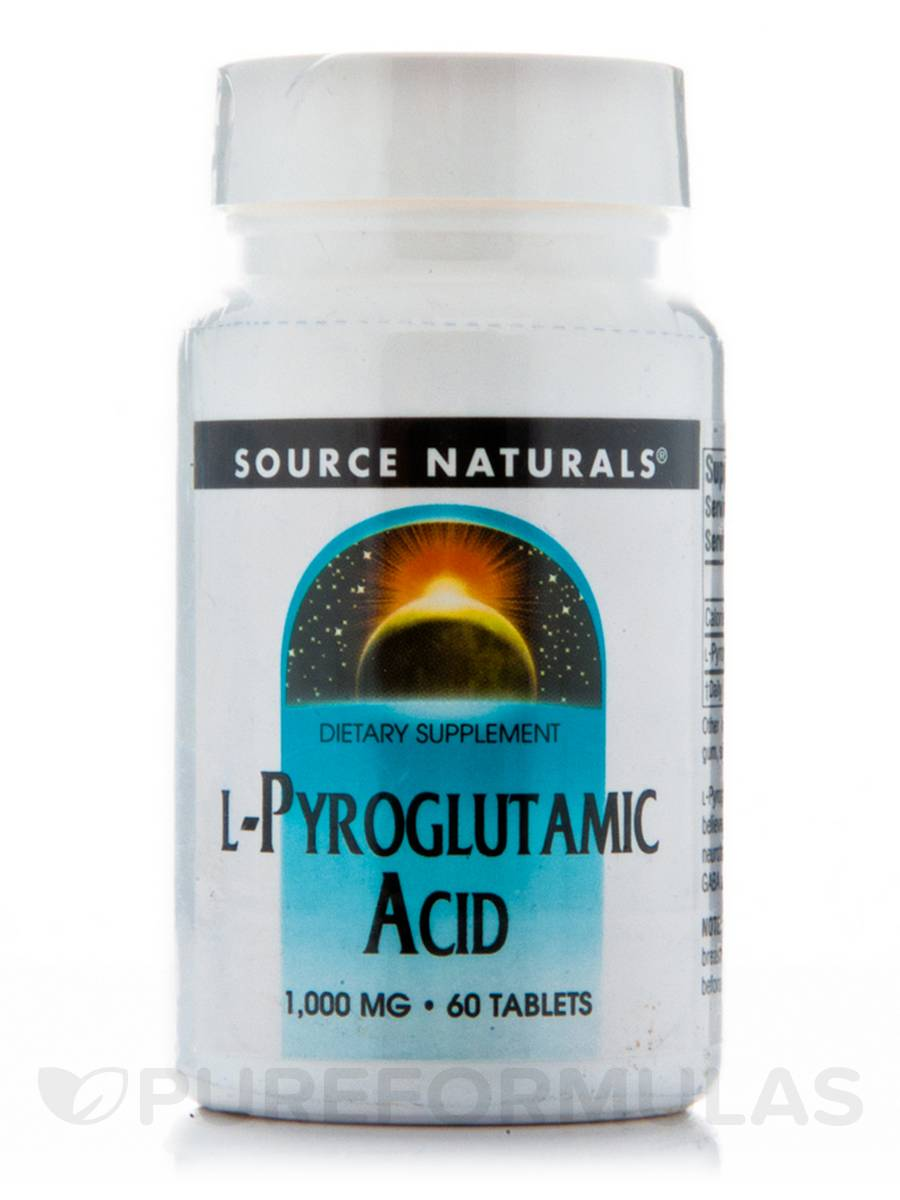 L-Pyroglutamic Acid 1000 mg - 60 Tablets