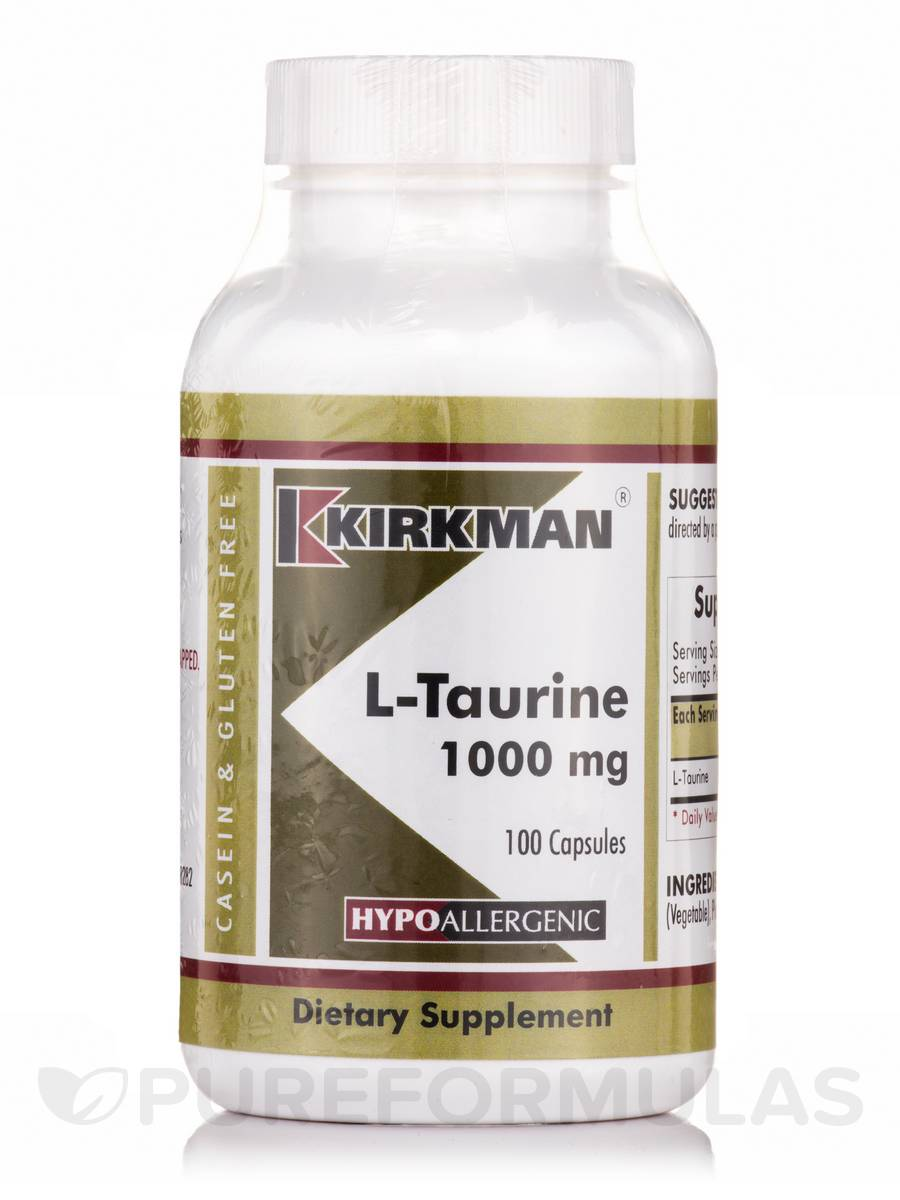 L-Taurine 1000 mg -Hypoallergenic - 100 Capsules