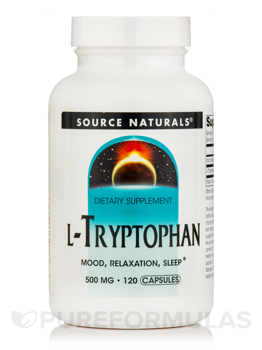 L-Tryptophan 500 mg - 120 Capsules