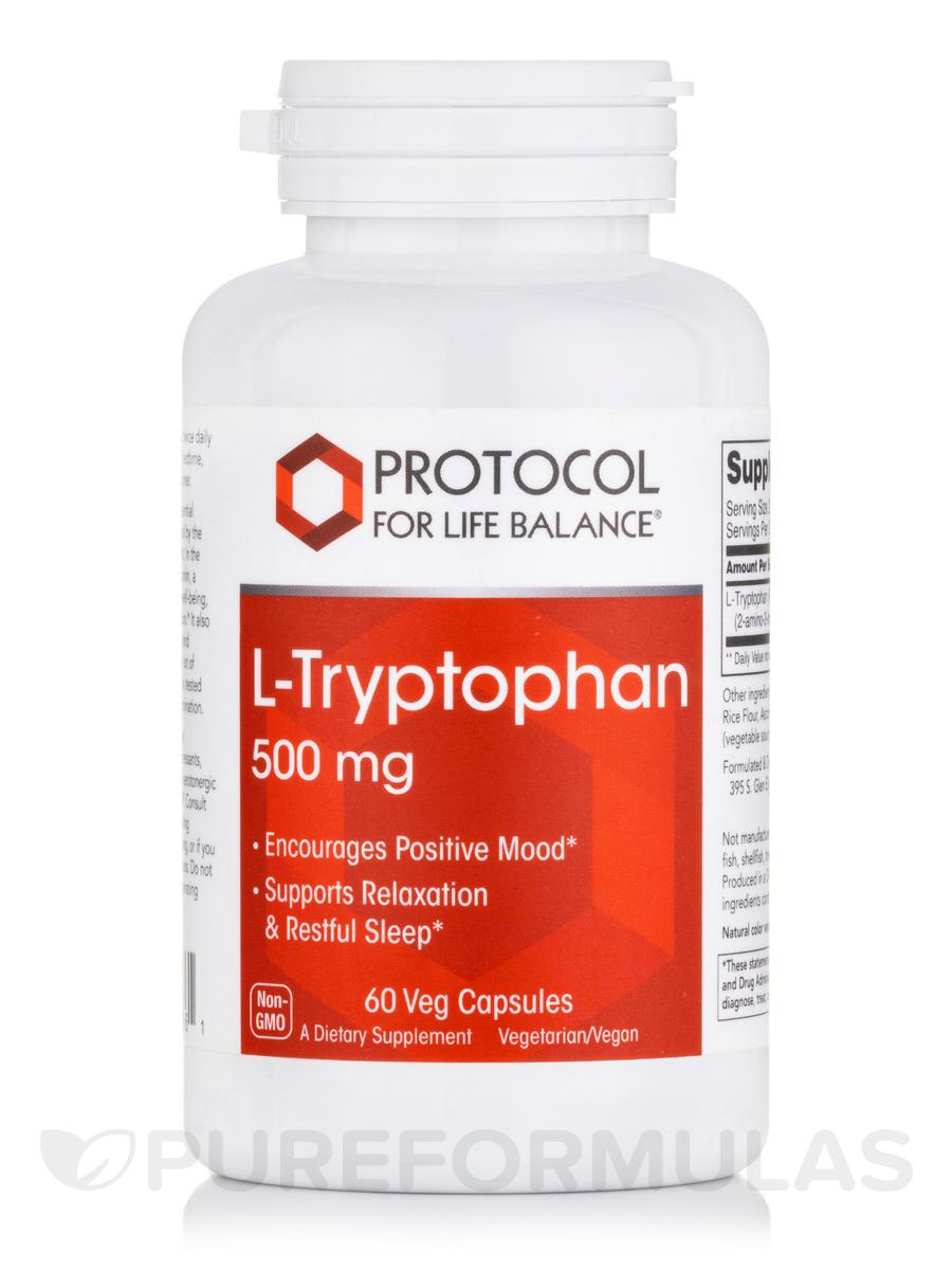 L-Tryptophan 500 mg - 60 Veg Capsules