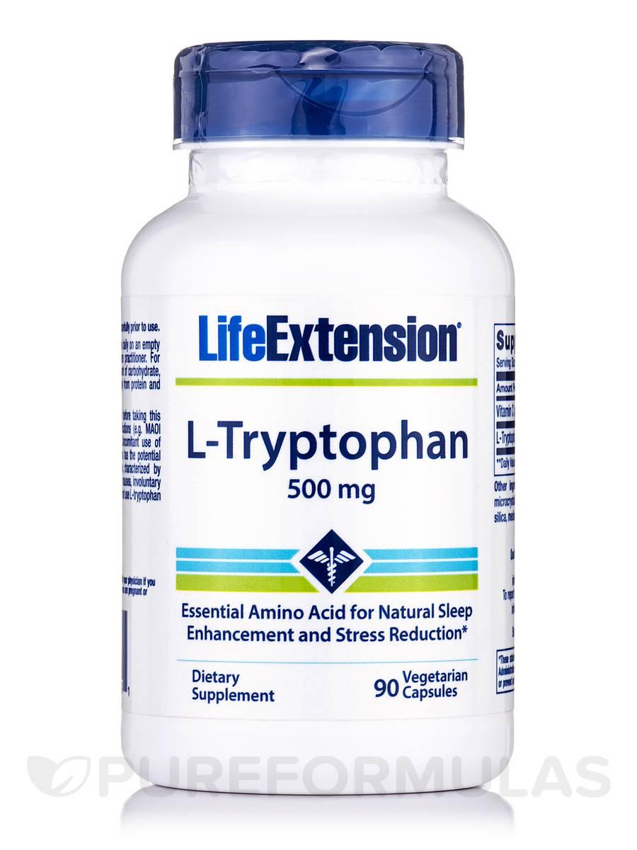 L-Tryptophan 500 mg - 90 Vegetarian Capsules