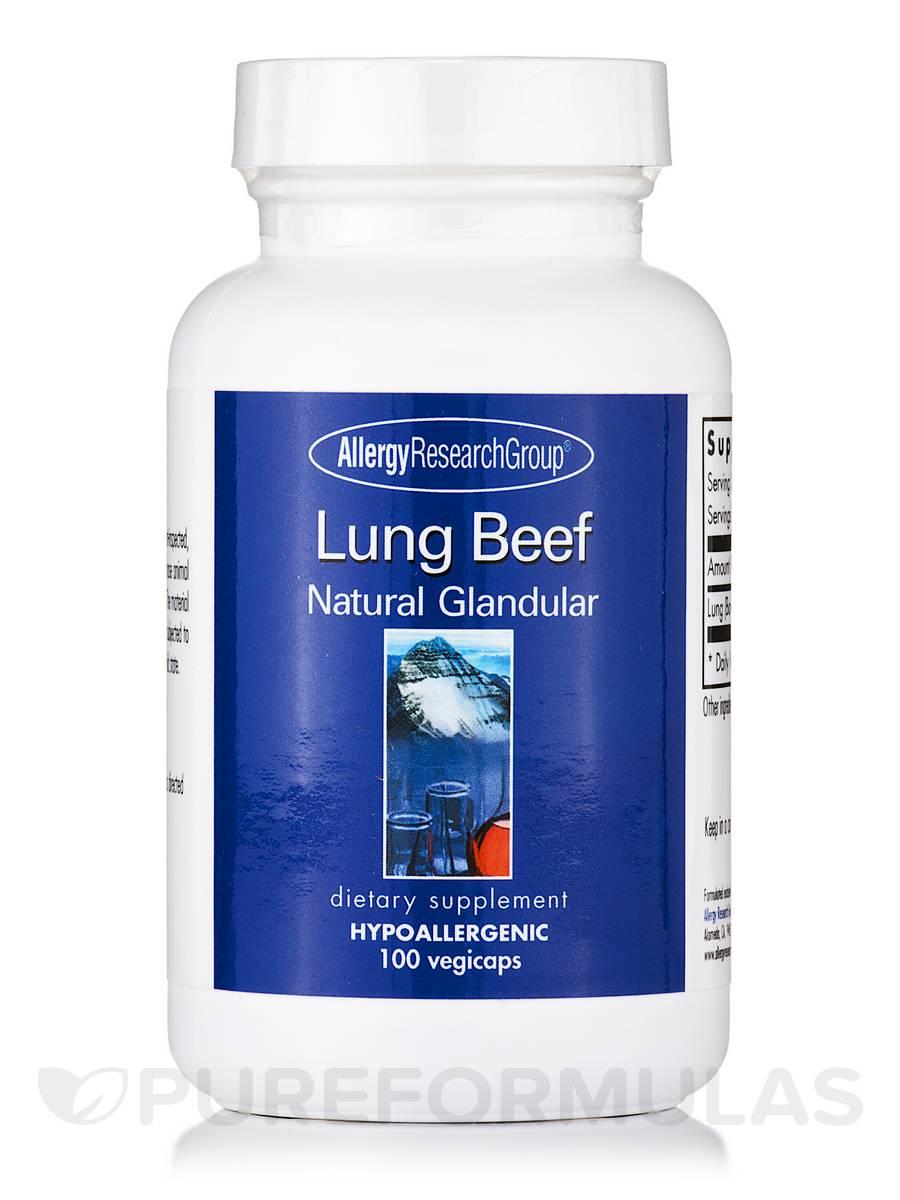 Lung Beef Natural Glandular - 100 Vegetarian Capsules