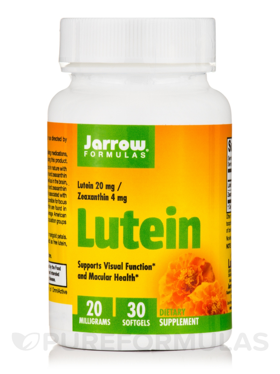 Lutein 20 mg (Zeaxanthin 1 mg) - 30 Softgels