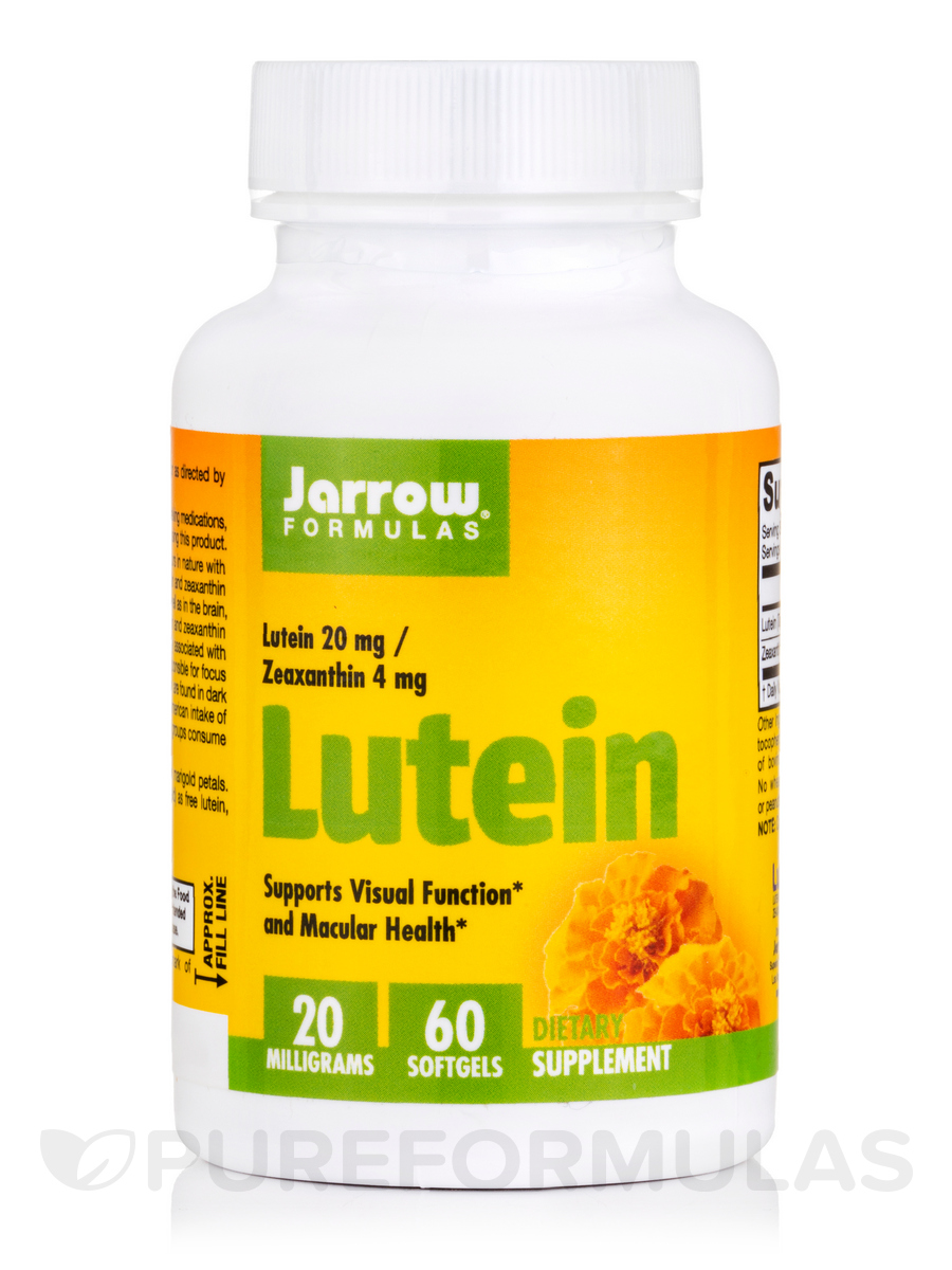 Lutein 20 mg (Zeaxanthin 1 mg) - 60 Softgels