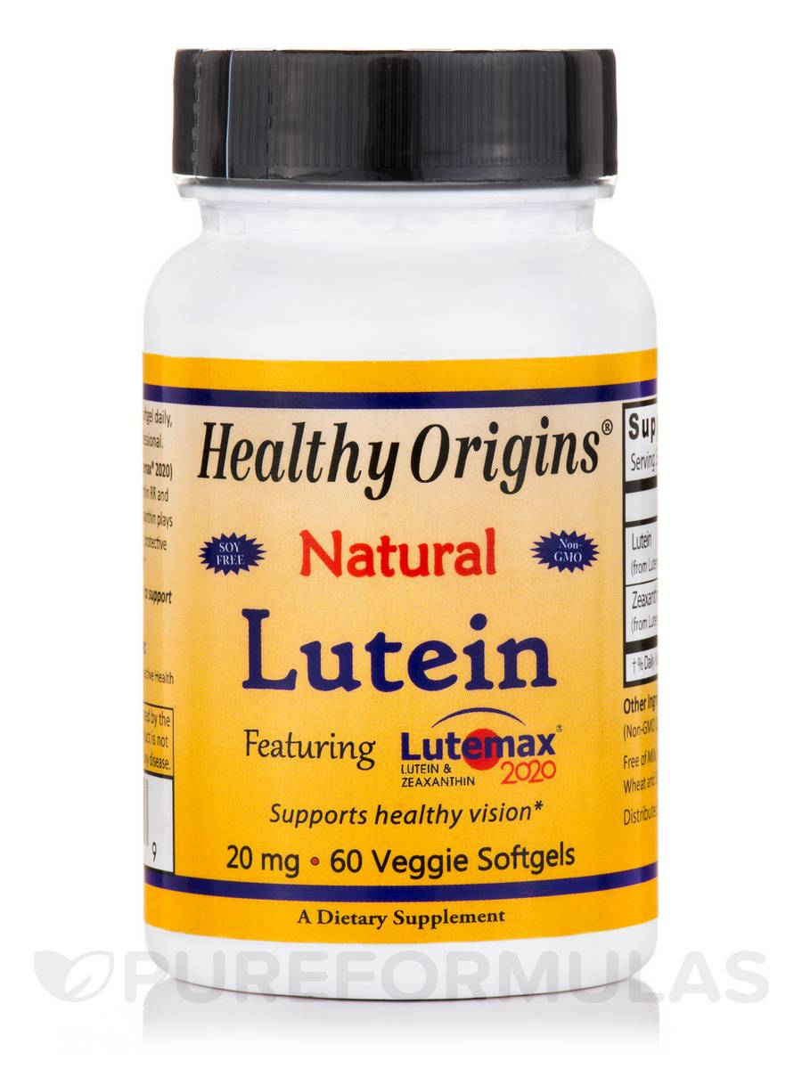 Lutein 20 mg featuring Lutemax® 2020 - 60 Veggie Softgels