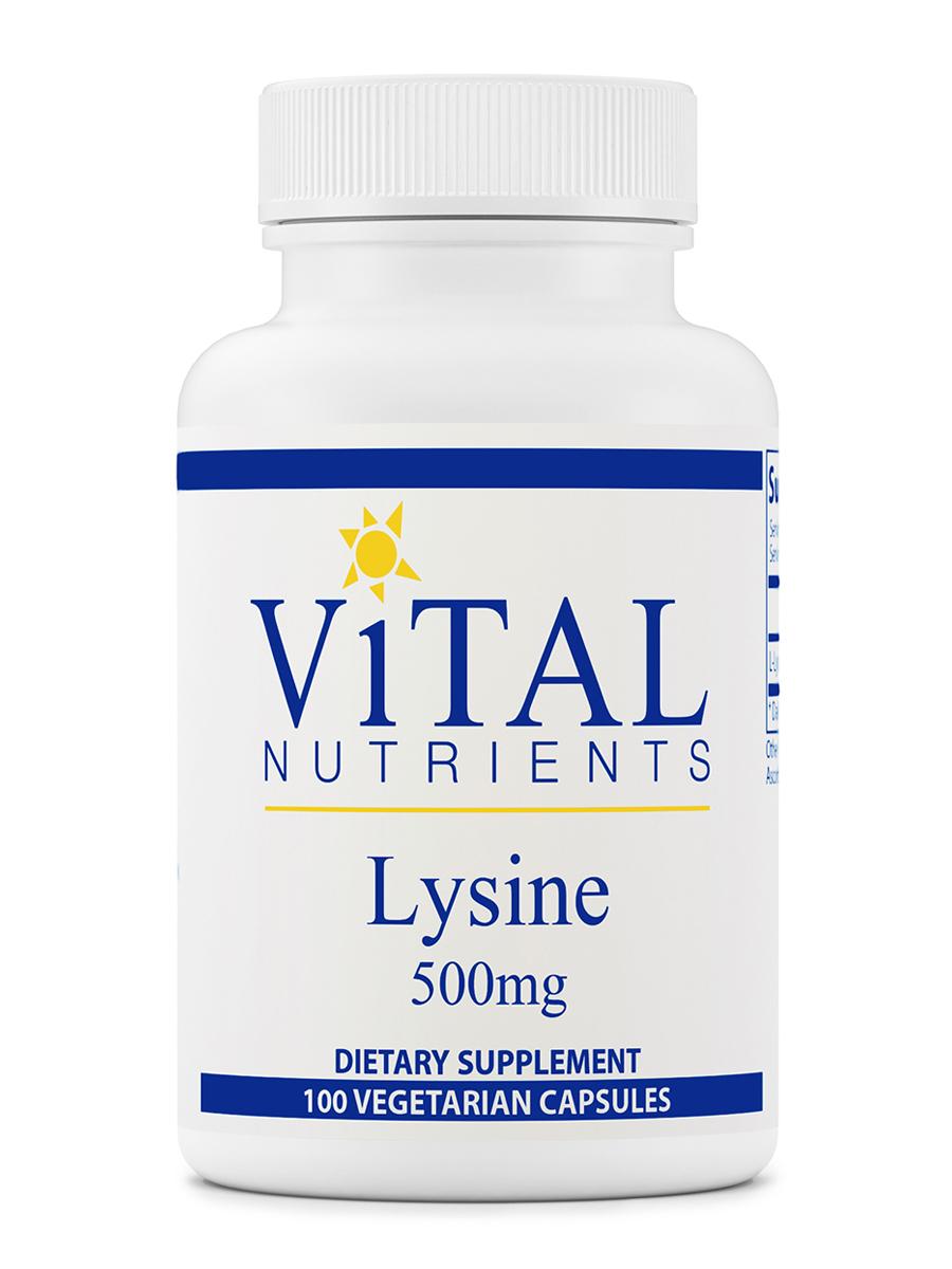 Lysine 500 mg - 100 Capsules
