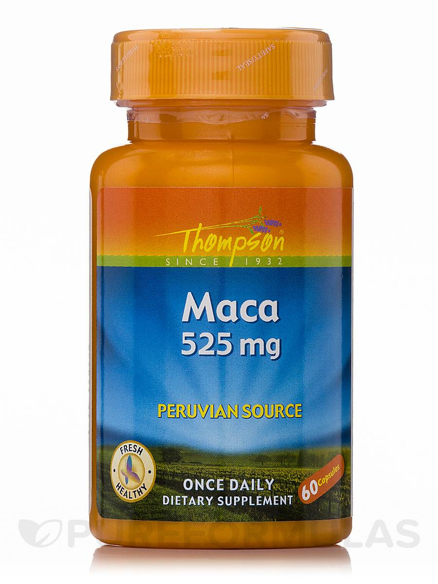 Maca 525 mg (Peruvian Source) - 60 Capsules
