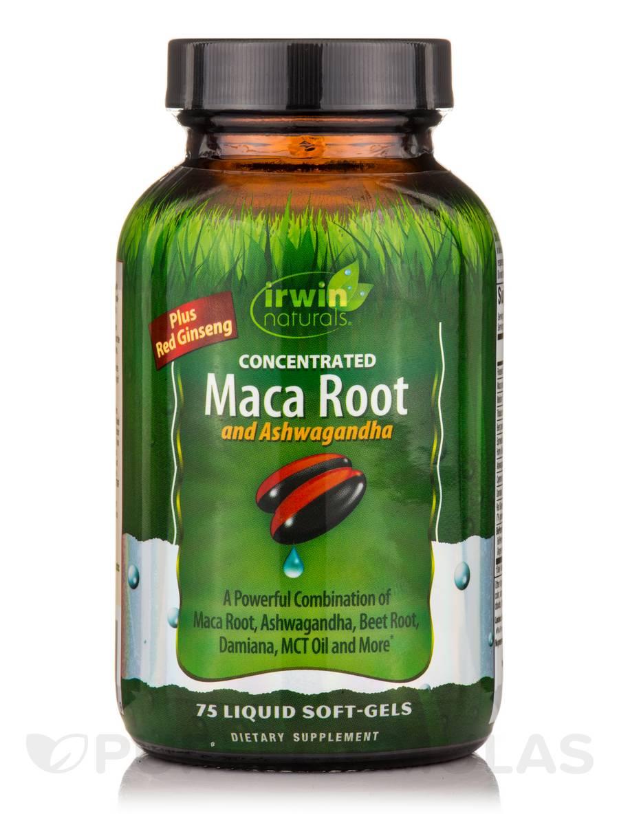 Maca Root and Ashwagandha - 75 Liquid Soft-Gels