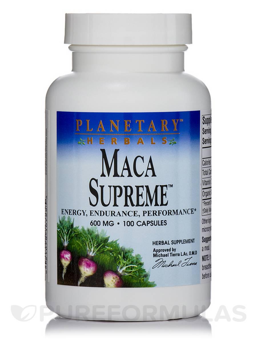 Maca Supreme 600 mg - 100 Capsules