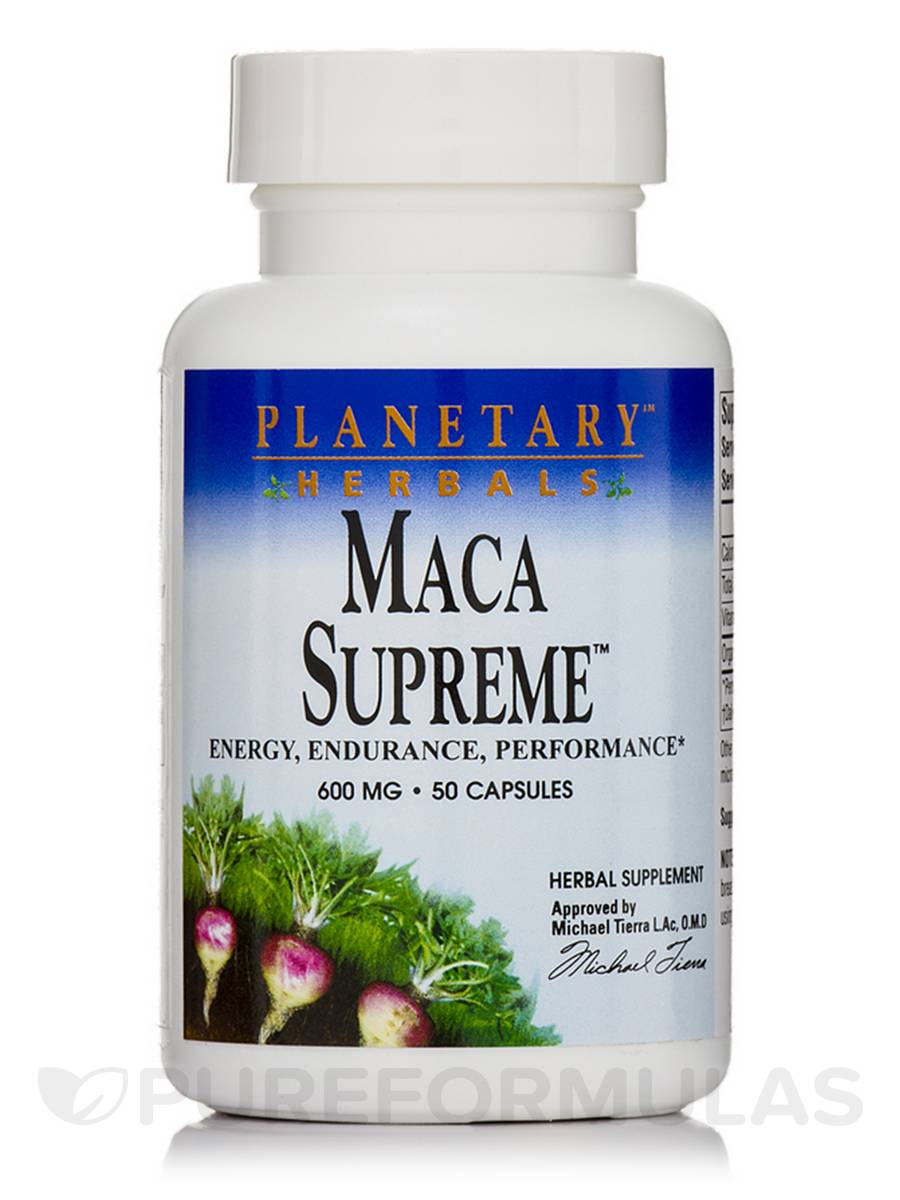Maca Supreme 600 mg - 50 Capsules