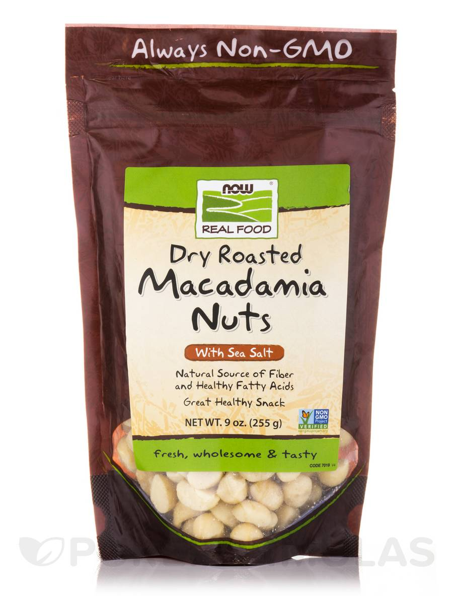 NOW® Real Food - Macadamia Nuts with sea Salt, Dry Roasted - 9 oz (255 Grams)