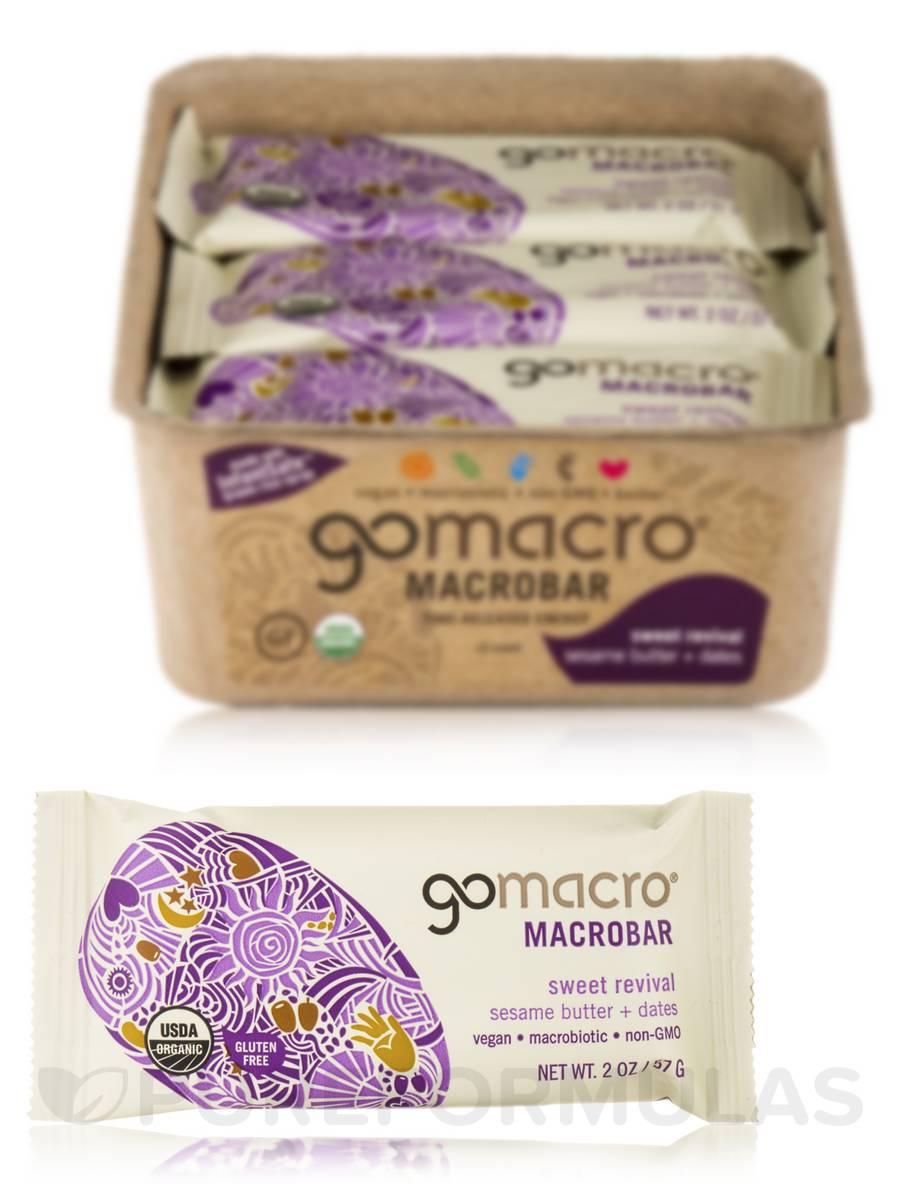 MacroBar Sesame Butter + Date - Box of 12 Bars (2 oz each)
