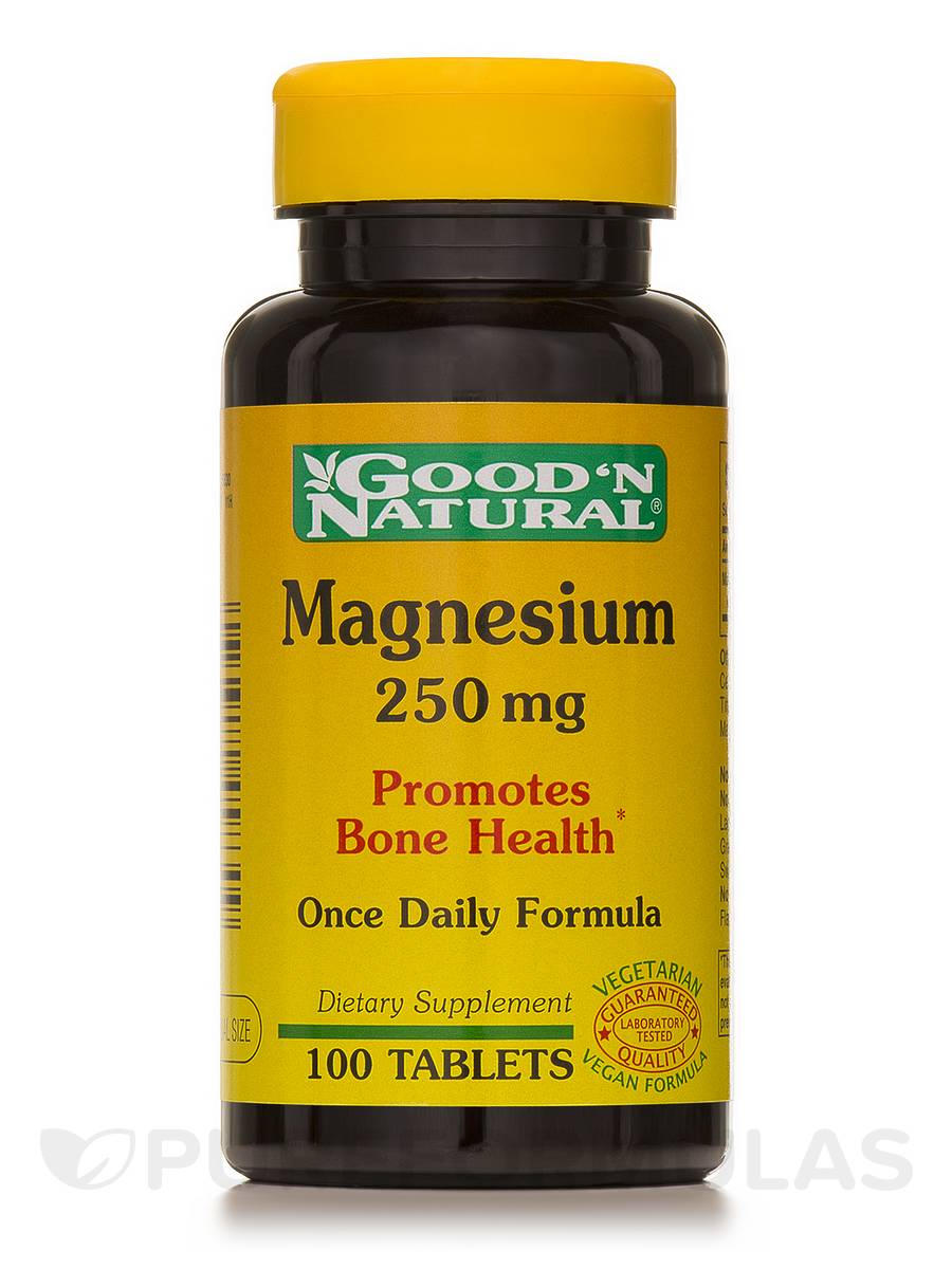 Magnesium 250 mg (Magnesium Oxide) - 100 Tablets