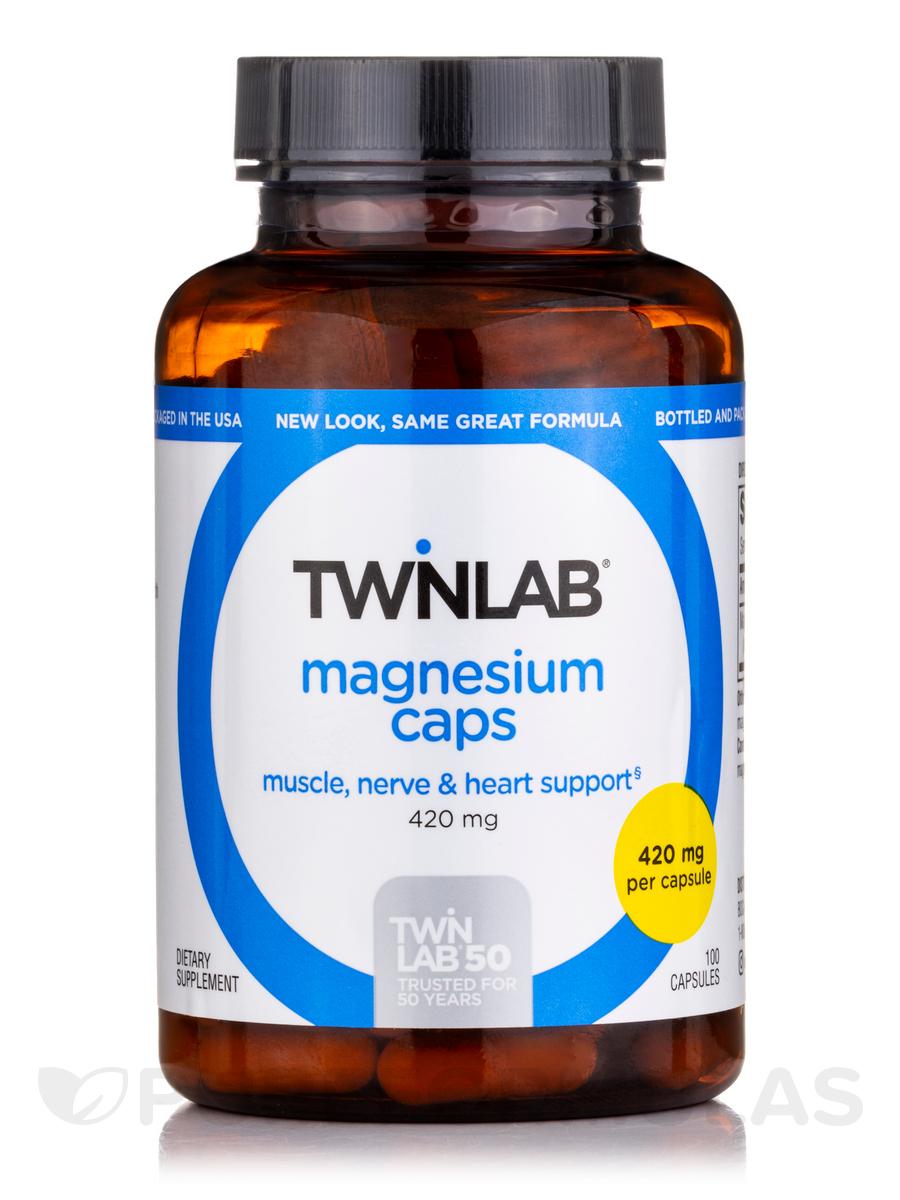 Magnesium 400 mg - 100 Capsules