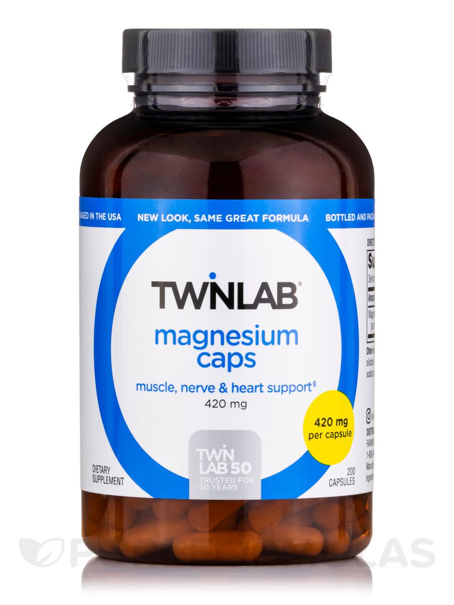 Magnesium 400 mg - 200 Capsules