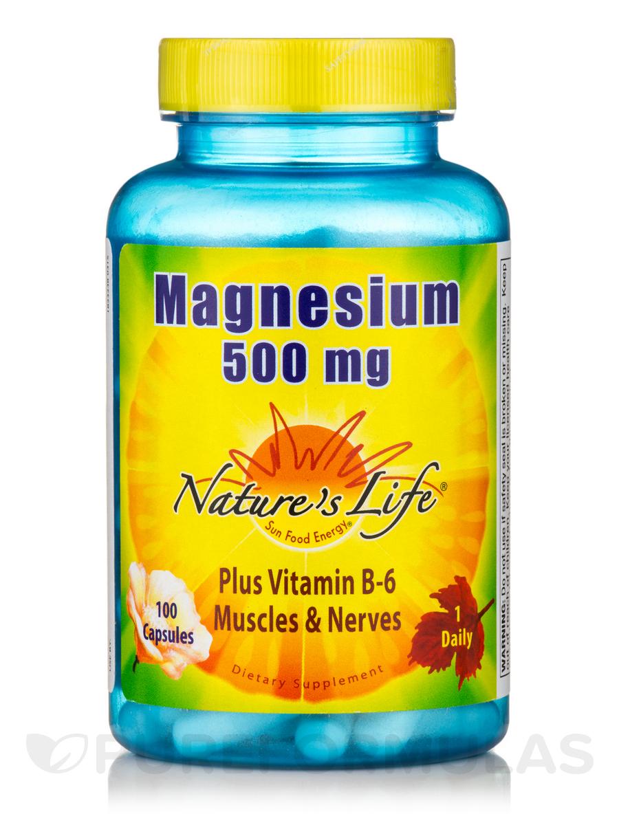 Magnesium 500 mg - 100 Vegetarian Capsules