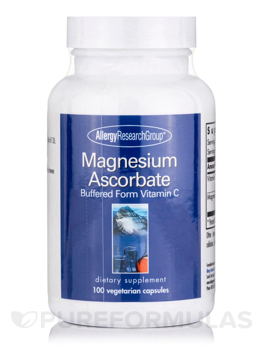 Magnesium Ascorbate - 100 Vegetarian Capsules