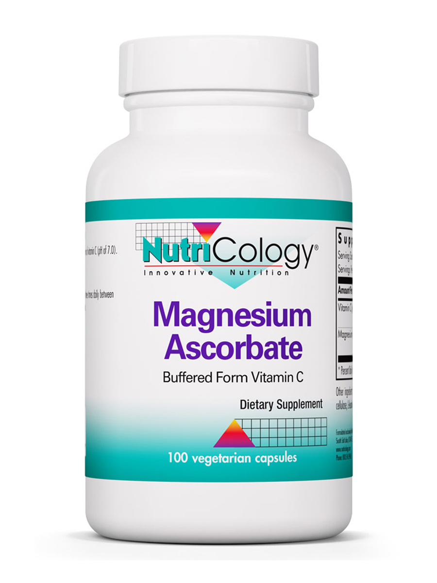 Magnesium Ascorbate (Buffered Form Vitamin C) - 100 Vegetarian Capsules