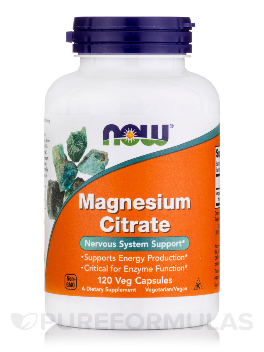 Magnesium Citrate - 120 Vegetarian Capsules