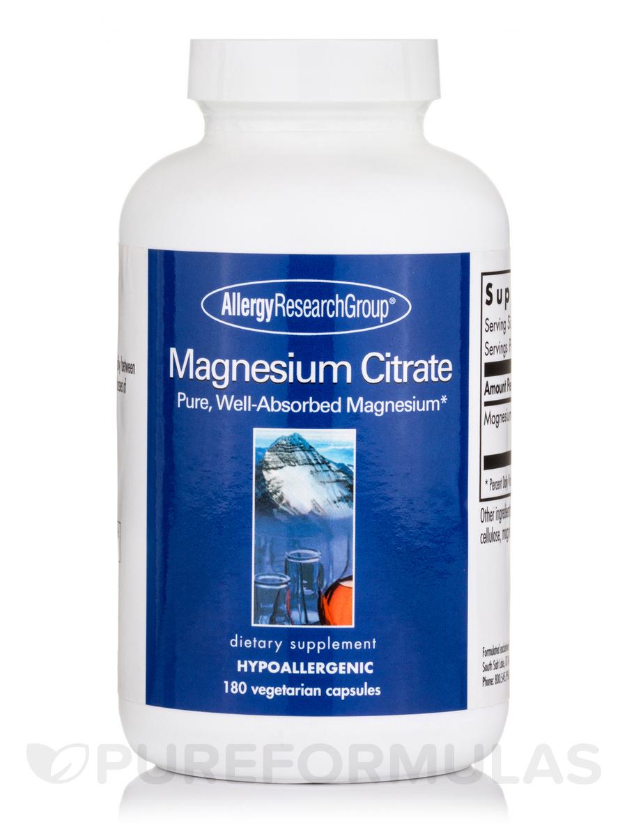 Magnesium Citrate - 180 Vegetarian Capsules