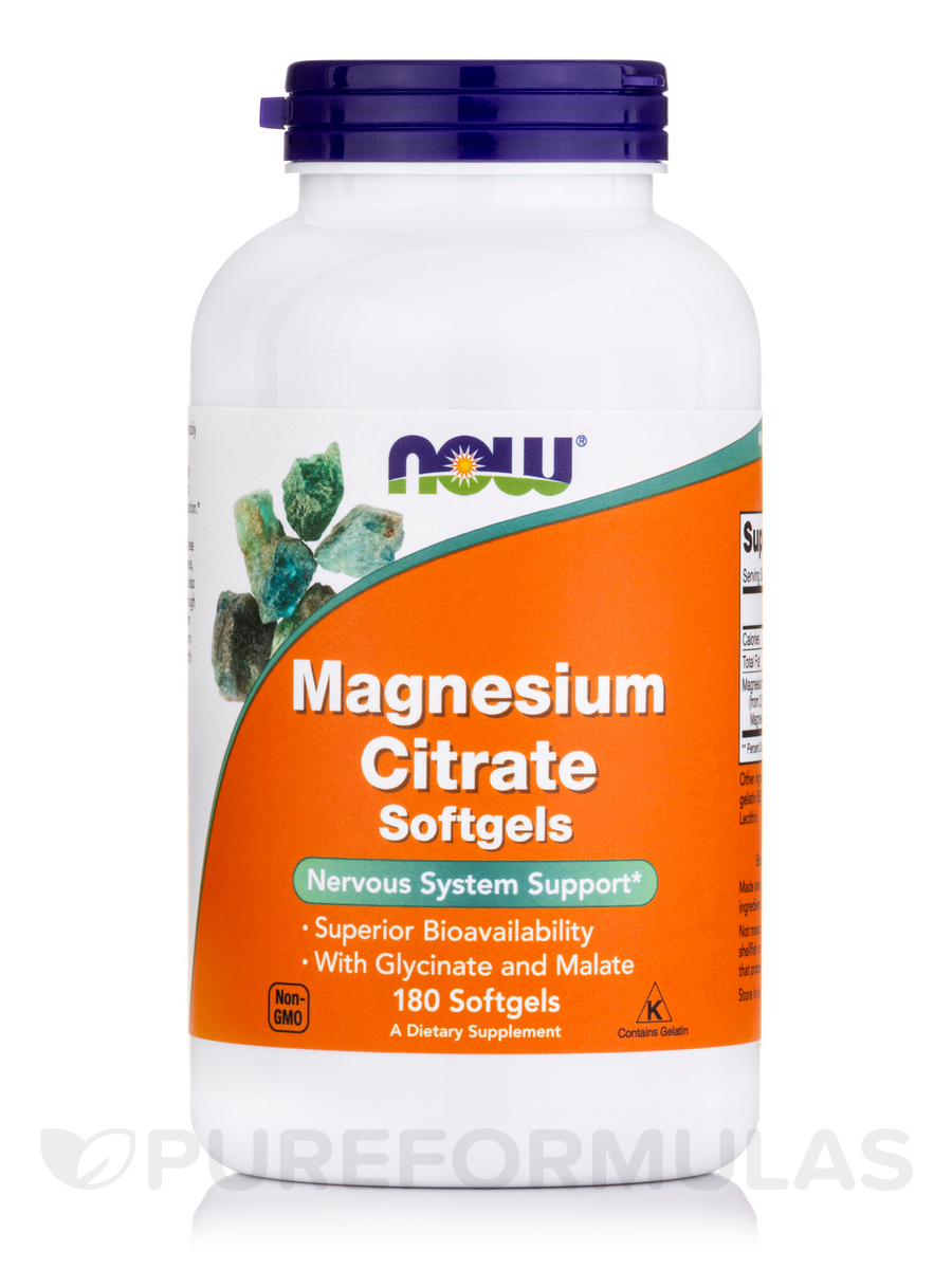 Magnesium Citrate - 180 Softgels