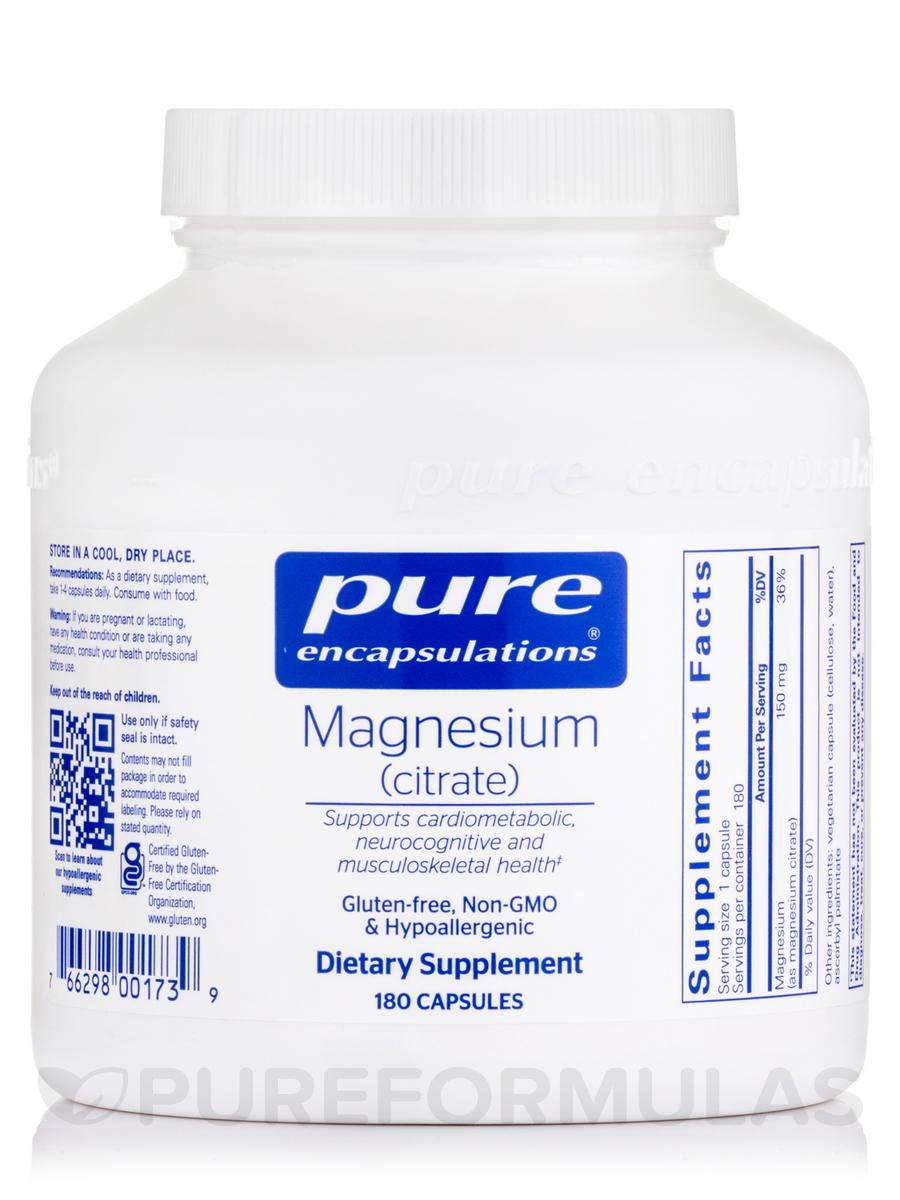 Magnesium (Citrate) - 180 Capsules