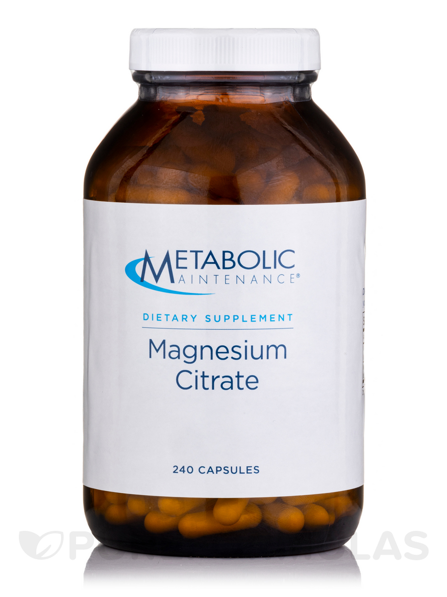 Magnesium Citrate - 250 Capsules