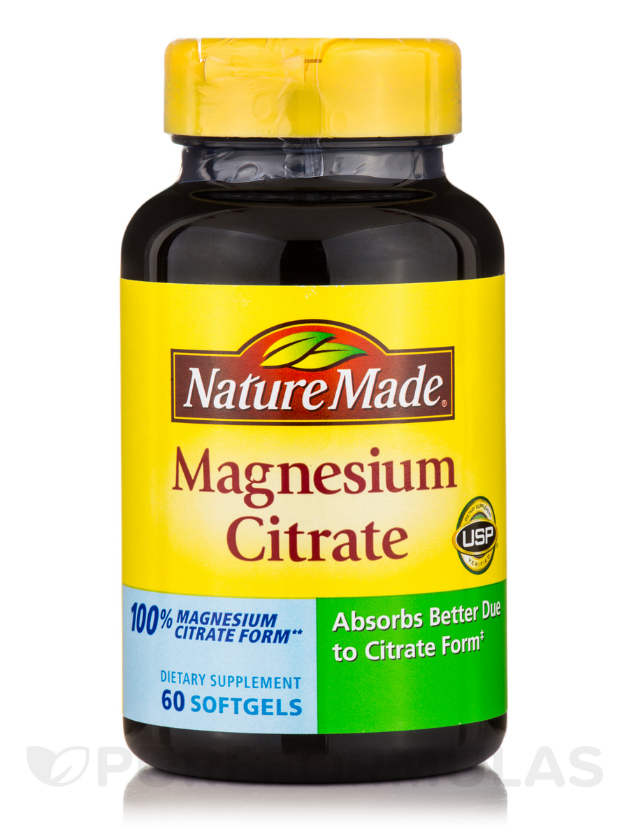 Magnesium Citrate - 60 Softgels