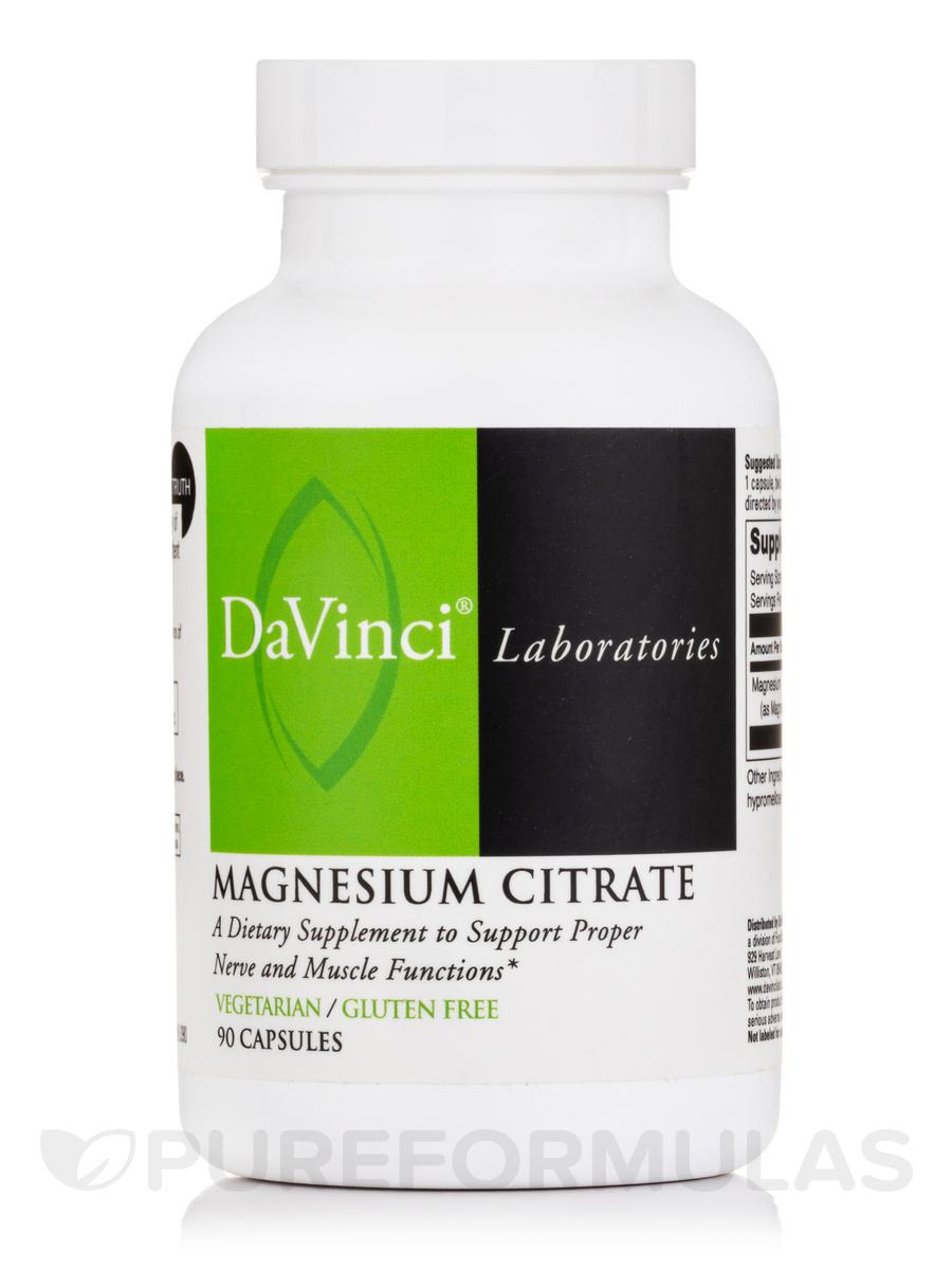 Magnesium Citrate - 90 Vegetarian Capsules