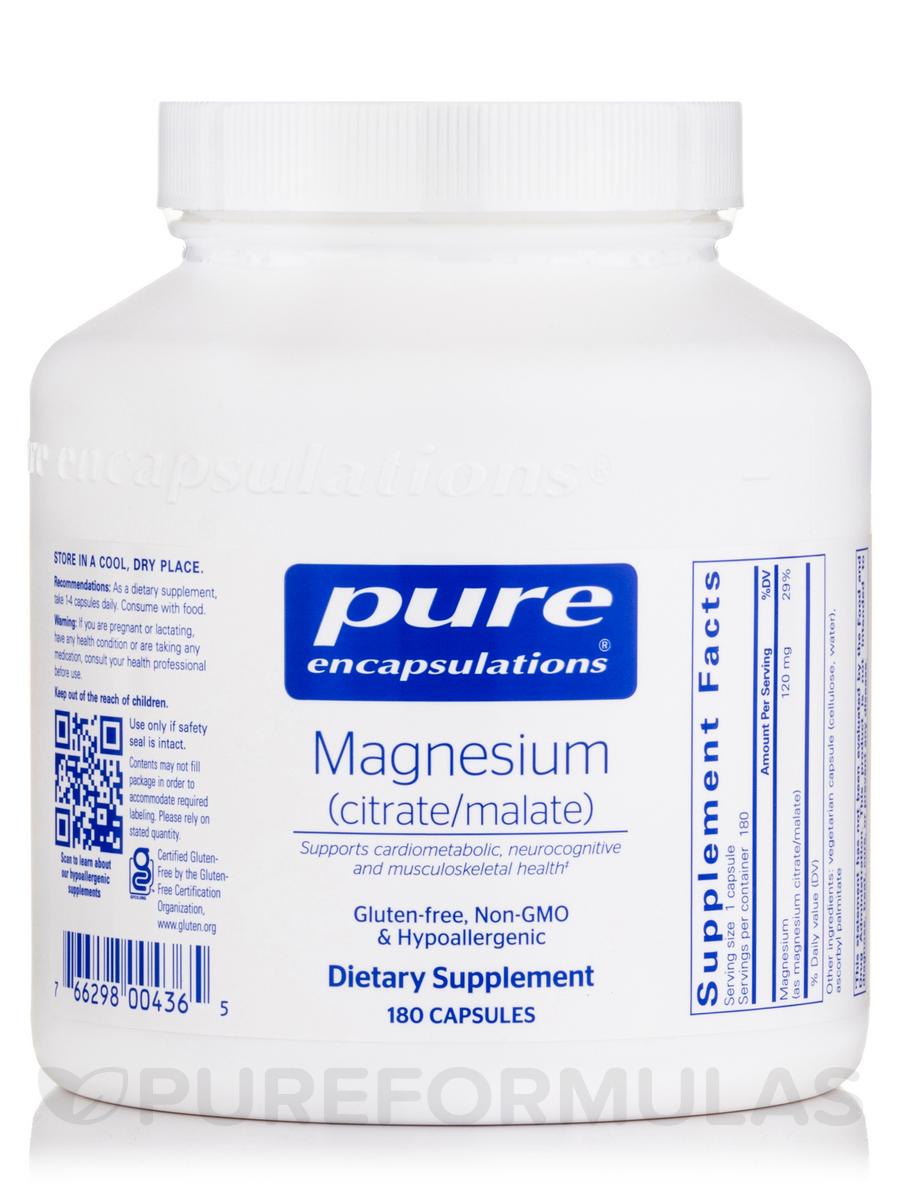 Magnesium (citrate/malate) - 180 Capsules