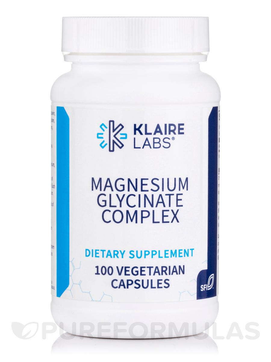 Magnesium Glycinate - 100 Vegetarian Capsules