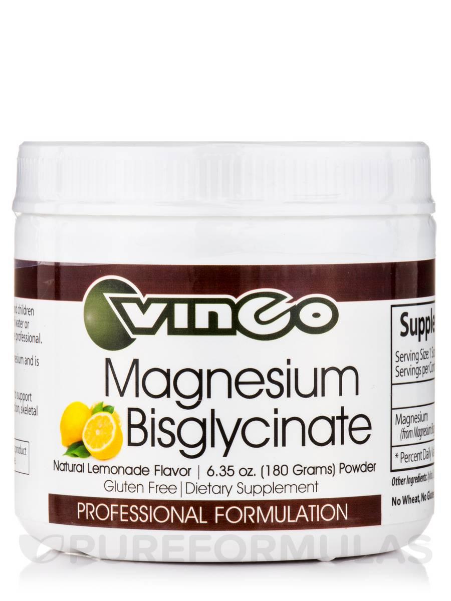 Magnesium Bisglycinate Powder, Natural Lemonade Flavor - 6.35 oz (180 Grams)