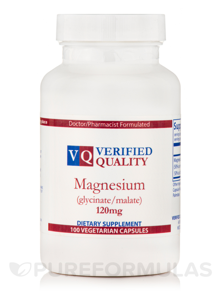 Magnesium Glycinate/Malate 120 mg - 100 Capsules