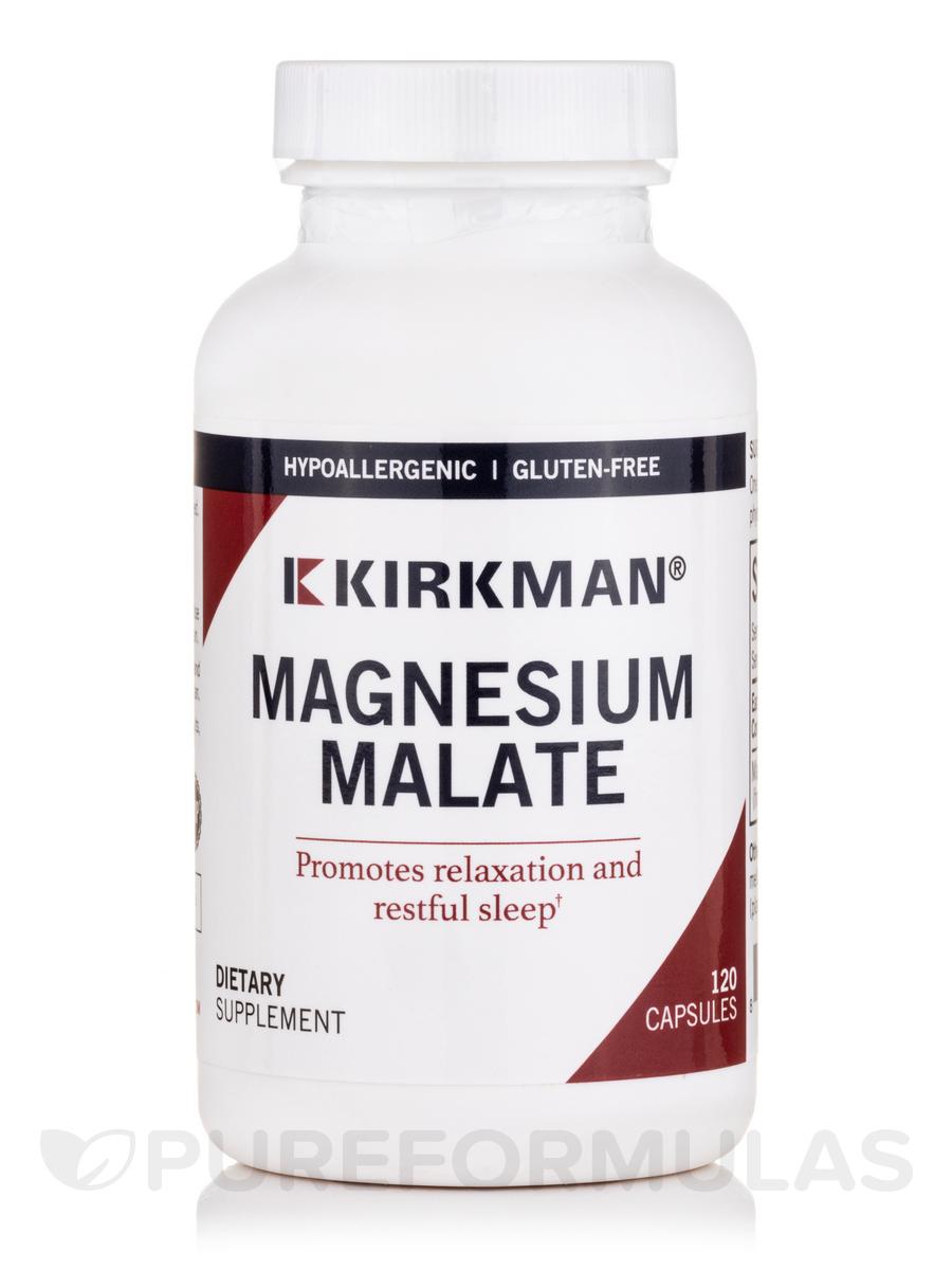 Magnesium Malate 1000 mg -Hypoallergenic - 120 Capsules