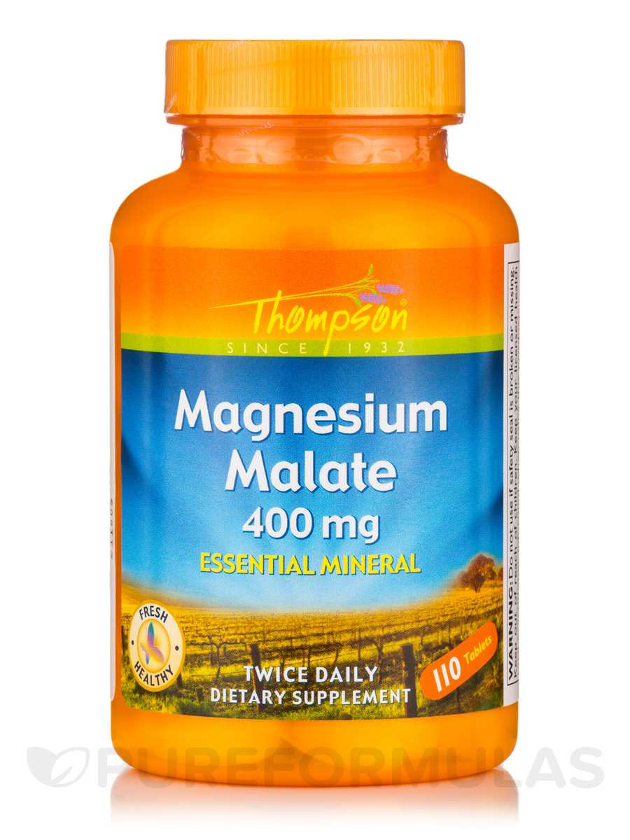 Magnesium Malate 400 mg - 120 Tablets