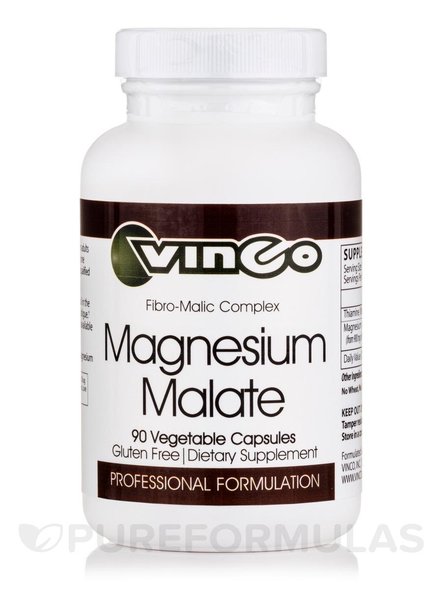 Magnesium Malate - 90 Vegetable Capsules