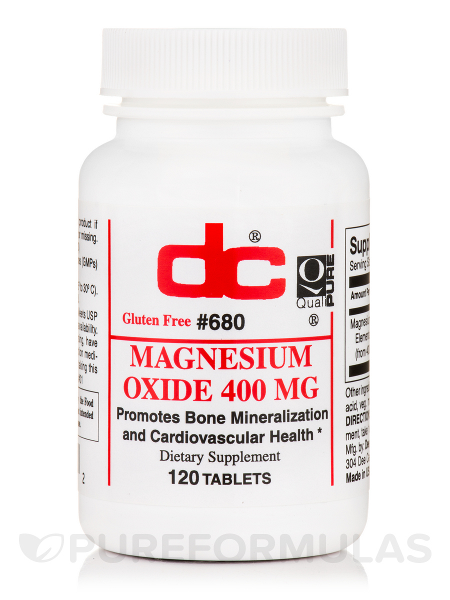 Magnesium Oxide - 120 Tablets