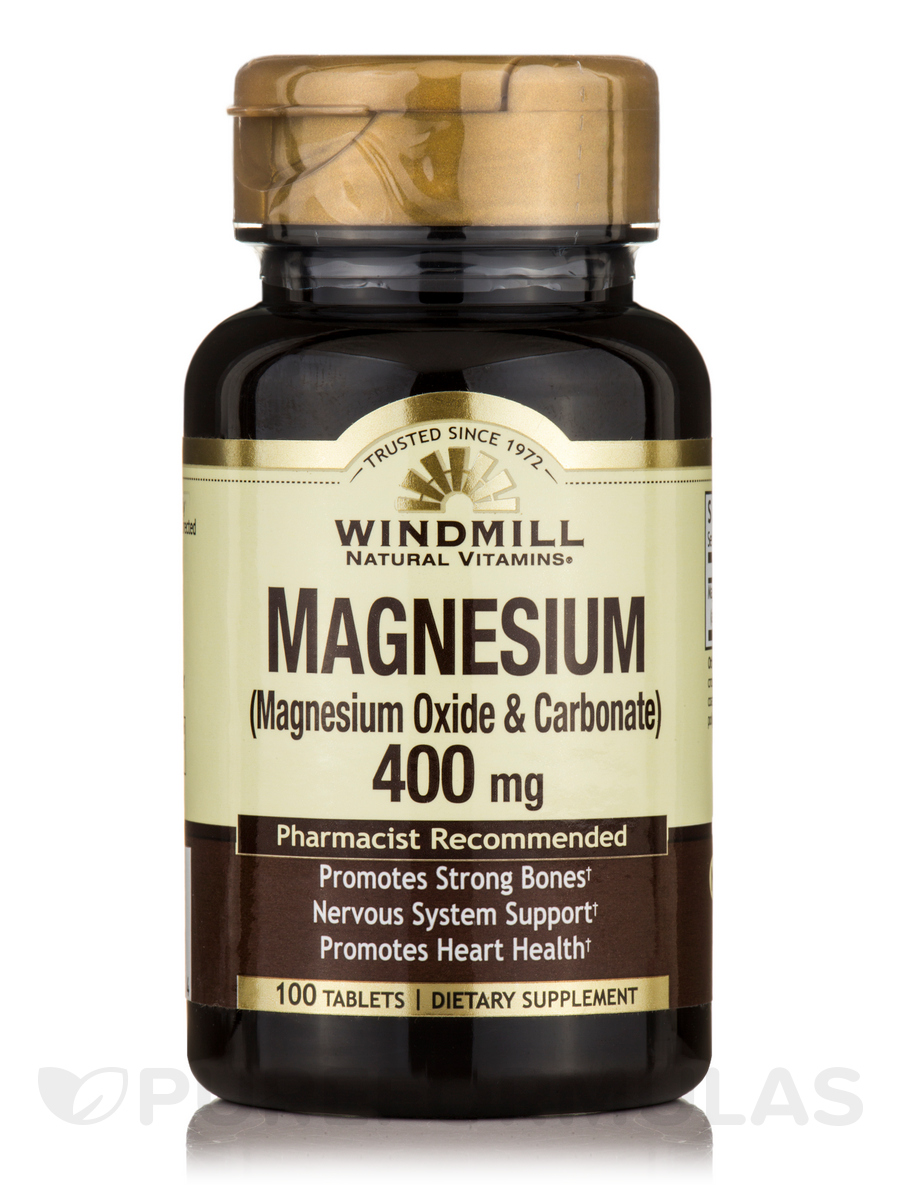 Magnesium Oxide & Carbonate 400 mg - 100 Tablets
