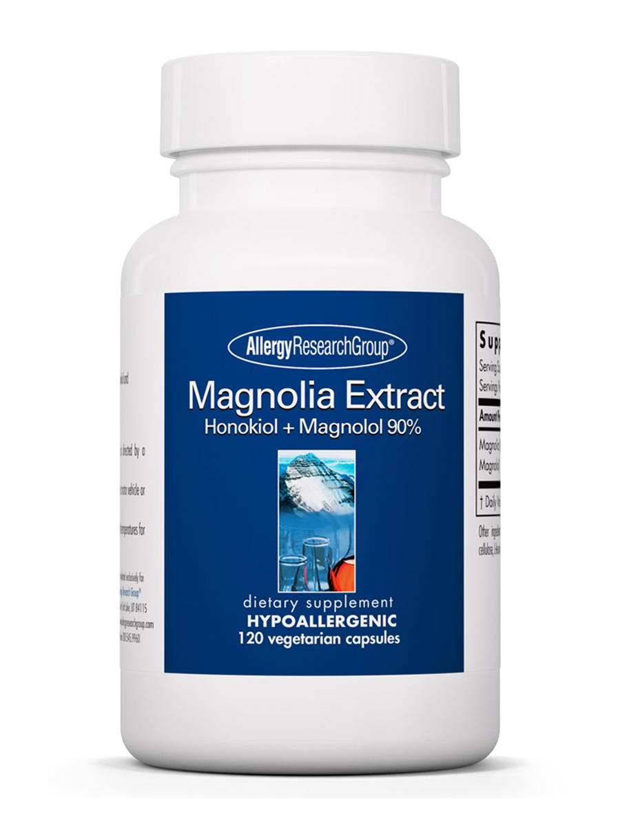 Magnolia Extract Honokiol + Magnolol 90% - 120 Vegetarian Capsules